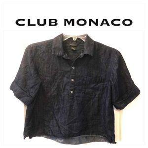 CLUB MONACO JEANS CROP TOP